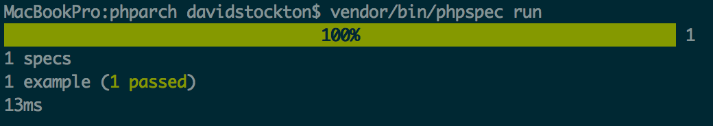 Running phpspec after fixing autoloader