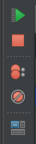 Figure 7: Debugging icons, vertical