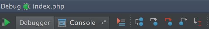 Figure 8: Debugging icons, horizontal